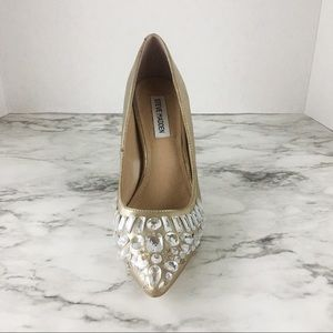Steve Madden Shoes - Steve Madden Gold Jeweled Penda Pump Size 8.5